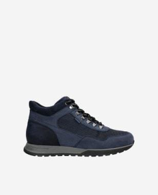 Granatowe sneakersy męskie ponad kostke 24043-86