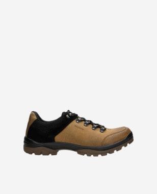 Jasnobrązowe trekkingi męskie z czarnymi elementami 10068-93