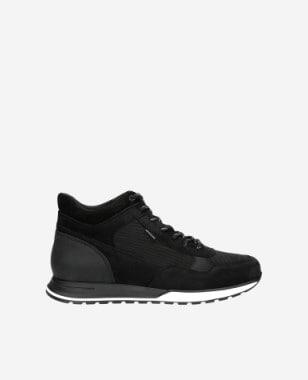 Czarne wysokie sneakersy męskie  24043-71