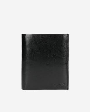 Elegancki czarny portfel męski ze skóry licowej 91027-51