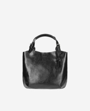 Duża pojemna shopperka damska w kolorze czarnym 80205-51