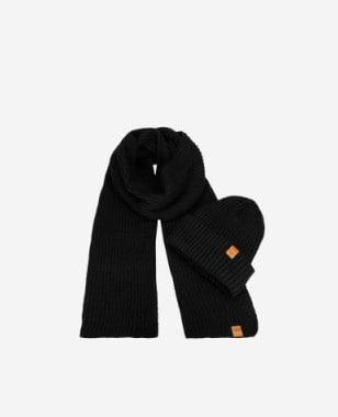 Zestaw czapka + szalik w kolorze czarnym 96012-11