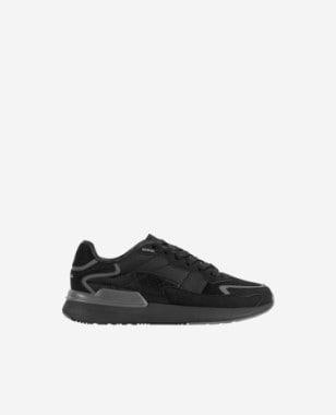 WJS czarne sneakersy męskie z szarymi wstawkami WJS10007-11