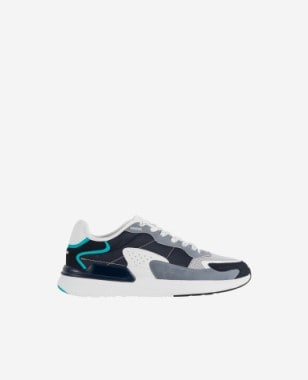 WJS oryginalne sneakersy męskie z niebieskimi akcentami WJS10007-16