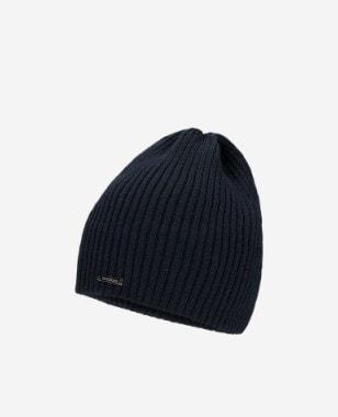 Granatowa czapka męska prążkowana 96016-19