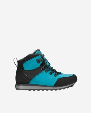 Wysokie niebiesko-czarne trekkingi damskie z ociepleniem 64016-87