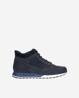 Granatowe sneakersy męskie nad kostkę  24043-76
